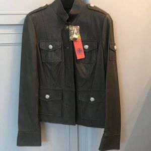 Brand new Tory Burch leather sgt. Pepper jacket